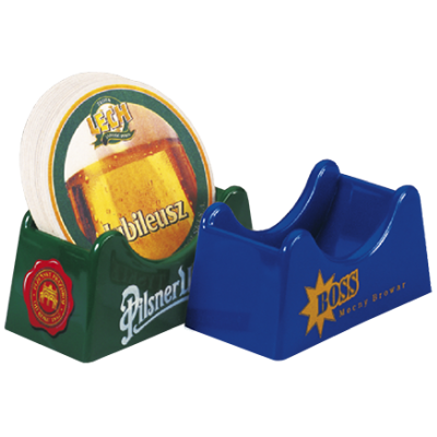Plastic beer mat holder