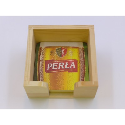 Beer coaster holder wood
